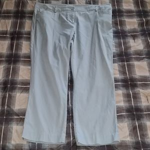 New York &Company Silver Cropped Pants